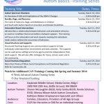 Community Autism Network: Autism Basics – Training Series